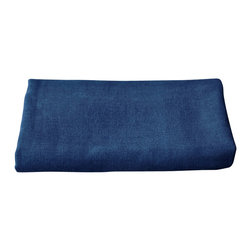 bailanmu - Sea Blue Gauze Hand Towel - Luxurious towel with a sustainable soul. Beautiful indigo shade blue, affectionately called Sea Blue. One side is a soft, woven gauze while the other, a familiar, equally soft knit terry cloth. Reversible in use, depending on your mood. Travel friendly, great for yoga and the gym, as well as beach towel!