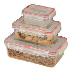 6-piece Lock and Seal Container Set with Square Lids
