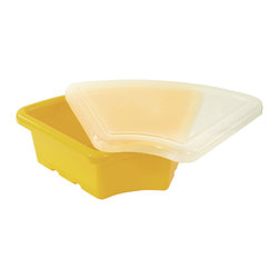 Ecr4kids - Ecr4Kids Room Preschool Organizer Ellipse Replacement Tray 20 Pack Yellow - Replacement Bin with lid for use with storage units and Sand and Water Play Centers.Replacement polypropylene basin for modular Sand and Water Play Centers, Ellipse Storage Centers and other laminate storage centers.Note Colors may vary - may change without notice. Also available without lid, tray alone (model ELR-0804-XX), sold separately To avoid attraction by animals or insects, do not leave water standing after use.
