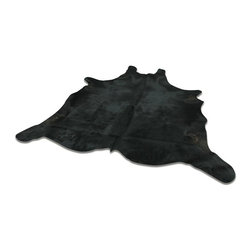 Yerra - Yerra Full Cow Hide Rug Natural, Deep Black, Approx 6'x9' - Made in Argentina by Yerra from only the highest quality hides.