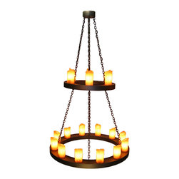 Steel Partners Inc - Candle Chandelier, Two Tier - Every piece we create is unique — handcrafted at our factory in Chehalis, Washington, USA. Due to this, lead times are 2 to 4 weeks.