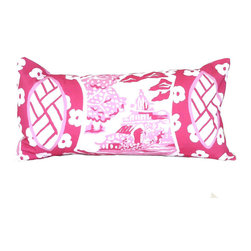 Canton in Pink Lumbar Pillow - I love using a lumbar pillow in the center of the sofa. This one is perfect.