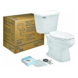 MANSFIELD PLUMBING PRODUCTS - PRO-FIT 2 Elongated Complete Toilet Kit - Features: