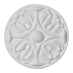 """Ekena Millwork - 5""""OD x 3/4""""P, Bordeaux Rosette - 5""""OD x 3/4""""P, Bordeaux Rosette. Our rosettes are the perfect accent pieces to cabinetry, furniture, fireplace mantels, ceilings, and more. Each pattern is carefully crafted after traditional and historical designs. Each piece comes factory primed and ready for your paint. They can install simply with traditional adhesives and finishing nails."""
