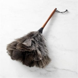 Redecker® Feather Duster - Handcrafted in South Africa by the Redecker family of artisan brushmakers, this lightweight and gentle duster is ideal for everyday cleaning yet gentle on delicate and heirloom items. When used with a rapid brushing motion, natural African ostrich feathers generate static electricity that attracts dust, making this duster an eco-friendly, cost-efficient alternative to disposable dusters. Subtly contoured pine handle is comfortable in the hand and finished with a leather hanging loop. This brush will stand the test of time; just care for it as you would your own hair.