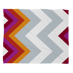 DENY Designs - Karen Harris Modernity Solstice Warm Chevron Fleece Throw Blanket - This DENY fleece throw blanket may be the softest blanket ever! And we're not being overly dramatic here. In addition to being incredibly snuggly with it's plush fleece material, it's maching washable with no image fading. Plus, it comes in three different sizes: 80x60 (big enough for two), 60x50 (the fan favorite) and the 40x30. With all of these great features, we've found the perfect fleece blanket and an original gift! Full color front with white back. Custom printed in the USA for every order.