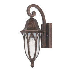 "Designers Fountain - Designers Fountain 20611-BAC 1 Light 7"" Cast Aluminum Wall Lantern from the Berk - Features:"