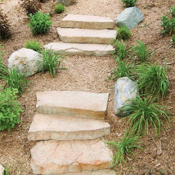 Rosetta Steps - The Rosetta Step Collection gives you the rugged attractiveness of natural stone but combines it with safety and comfort of uniform rise.  Rosetta's Irregular Step line is perfect for free-flowing, natural staircases, while Rosetta's Dimensional Step line is ideal for more format, sophisticated settings.