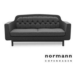 Normann Copenhagen Onkel Sofa 2-Seater Dark Gray - Normann Copenhagen Onkel Sofa 2-Seater Dark Gray