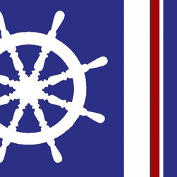 Oh How Cute Kids by Serena Bowman - Nautical Colors - Steering Wheel, Ready To Hang Canvas Kid's Wall Decor, 16 X 20 - Each kid is unique in his/her own way, so why shouldn't their wall decor be as well! With our extensive selection of canvas wall art for kids, from princesses to spaceships, from cowboys to traveling girls, we'll help you find that perfect piece for your special one.  Or you can fill the entire room with our imaginative art; every canvas is part of a coordinated series, an easy way to provide a complete and unified look for any room.