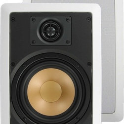 """InwallTech - M65.1W InwallTech™ 6 1/2"""" Virtually Invisible Aluminum Wall Speakers - At 125 watts max power rating, you'll find it hard to run out of power! And if you do overdrive them a little at your next party/function/get-together, you'll be happy to know your investment is protected with an AUTOMATIC SHUT-OFF SWITCH. It detects when you've sent too much power for too long and shuts down until it's safe again to turn the speaker back on."""