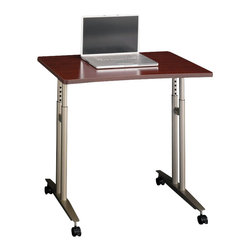 Bush - Bush Series C Adjustable Height Mobile Table in Mahogany Finish - Bush - Mobile Laptop Carts - WC36782 - From private offices to workstations, Series C configures in dozens of ways, giving you the flexibility to design your workspace in the way that best suits your working style.