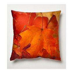 "lava - Fall Pillow - Features: -Pillow. -Size: 16""x16"". -Colour: Orange, Red. -Material: 100% polyester cover with polyester fill. -Add elegant style to your home decor with lava decorative throw pillows. -Spot clean only."