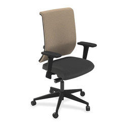 Mayline - Mayline Commute Series Fully Upholstered Task Chair - Fabric Black Seat - Part of Commute Task Seating, this fully upholstered chair is perfect in any setting, comfortable for any body and simple to use. Versatile task seating offers synchro-tilt seat mechanism, seat glide, tilt tension and tilt lock. With the seat glide, the seat cushion travels forward and back and then locks into position. Other functions include pneumatic seat-height adjustment and 360-degree swivel. T-arms adjust in height for customized arm rests. Weight capacity is 250 lb. Chair also features fabric upholstery, Class 4 chair cylinder and five-star base with casters for stability and easy mobility. Chair meets or exceeds ANSI/BIFMA standards.