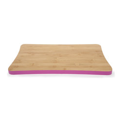 Core Bamboo Large Magenta Colored Cutting Board - This large magenta colored bamboo cutting board is ideal for all food prep, presentation and serving.