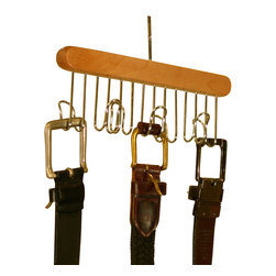 Proman Products - Proman Products Simplicity Belt Hanger in Natural - Simplicity belt hanger (Holds 7 belts)
