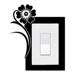 StickONmania - Lightswitch Plants #9 Sticker - A vinyl sticker decal to decorate a lightswitch.  Decorate your home with original vinyl decals made to order in our shop located in the USA. We only use the best equipment and materials to guarantee the everlasting quality of each vinyl sticker. Our original wall art design stickers are easy to apply on most flat surfaces, including slightly textured walls, windows, mirrors, or any smooth surface. Some wall decals may come in multiple pieces due to the size of the design, different sizes of most of our vinyl stickers are available, please message us for a quote. Interior wall decor stickers come with a MATTE finish that is easier to remove from painted surfaces but Exterior stickers for cars,  bathrooms and refrigerators come with a stickier GLOSSY finish that can also be used for exterior purposes. We DO NOT recommend using glossy finish stickers on walls. All of our Vinyl wall decals are removable but not re-positionable, simply peel and stick, no glue or chemicals needed. Our decals always come with instructions and if you order from Houzz we will always add a small thank you gift.