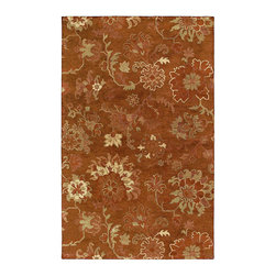 Kaleen - Kaleen Magi Collection 7201-67 8'X10' Copper - Magi is a stunning collection of  run off  designs.  Elegantly understated and timeless designs produced from the finest washed 100% Virgin Wool.  Hand Made with pride by Kaleen's own artisans in India.