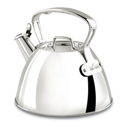 All-Clad - All-Clad Stainless Steel Tea Kettle (E8619964) - The new All-Clad stainless steel tea kettle does whistle! This popular teakettle has recently been improved, based on feedback from our customers. Even more important, you can feel confident buying this improved teapot because All-Clad backs it up with a lifetime warranty. Add this stylish, gleaming All Clad tea kettle to your kitchen. This kettle makes a great gift too.