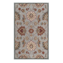 Surya Rugs - Surya KGT2000 Kingston Hand Tufted Light Gray Rug (5-Feet x 8-Feet) - 100% Polyester. Style: Transitional. Rugs Size: 5' x 8'. Note: Image may vary from actual size mentioned.