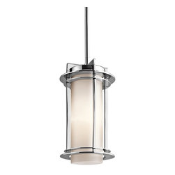 Kichler Lighting - Kichler Lighting Pacific Edge Modern / Contemporary Outdoor Pendant Light X-613S - With the flavor of a traditional outdoor hanging lamp and an innovative form, the Kichler Lighting Pacific Edge Modern / Contemporary Outdoor Pendant Light is an exterior lighting favorite. This clean design features a Satin Etched Cased Opal glass shade and a Polished Stainless Steel finish - the perfect lighting fixture for entertaining or just relaxing on the porch.