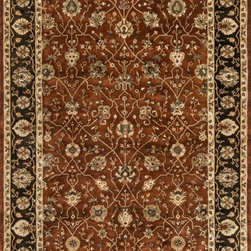 "Loloi Rugs - Loloi Rugs Yorkshire Collection - Rust / Espresso, 5'-0"" x 7'-6"" - The Yorkshire Collection is a hand tufted area rug made by some of the finest craftsman. Semi-worsted New Zealand wool combines with deep rich color and semi-traditional designs to create unparalleled beauty."