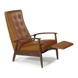 Tighten Up Recliner by Milo Baughman from Thayer Coggin (semi-recline view) - Thayer Coggin Inc.