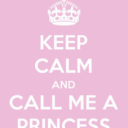 "Keep Calm Collection - Keep Calm and Call Me A Princess, premium art print (light pink) - High-quality art print on heavyweight natural white matte fine art paper. Produced using archival quality inks giving the print a vivid and sharp appearance. Custom trimmed with 1"" border for framing."