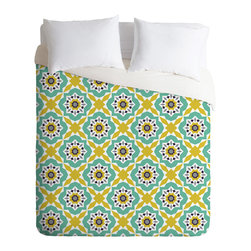 DENY Designs - Heather Dutton Mattonelle Duvet Cover - Turn your basic, boring down comforter into the super stylish focal point of your bedroom. Our Luxe Duvet is made from a heavy-weight luxurious woven polyester with a 50% cotton/50% polyester cream bottom. It also includes a hidden zipper with interior corner ties to secure your comforter. it's comfy, fade-resistant, and custom printed for each and every customer.