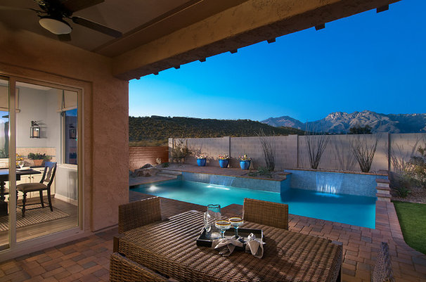 Transitional Pool by Maracay Homes Design Studio