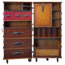 Trunk and Black Armoire Trunk