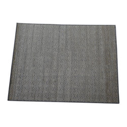 1800GetARug - Bamboo Silk Hand Knotted Rug Raised Geometric Design Sh14131 - About Modern & Contemporary