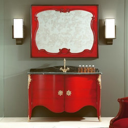 Home & Glamour BC.006 Credenza/ Sideboard - BC.006 high end Italian italian credenza / sideboard handmade in red Cherrywood with two doors. This traditional furniture collection combines a unique French and Italian design. Available in Cherrywood stain or more than 31 painted lacquered colors. Made in Italy.