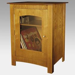 Crosley - Crosley Bardstown Entertainment Center Stand - ST75-BK - Shop for Visual Centers and Stands from Hayneedle.com! Sure your vintage music system will look good anywhere you put it. But match it with the Crosley Williamsburg Entertainment Center Stand and you've got thethe look.Handsome as a Sam Spade suit the Williamsburg retro stand is constructed of handcrafted hardwood and veneer in satiny polished black. It's also available in the Oak Paprika and Cherry finishes that match other vintage Crosley products.You've got a killer collection of beautiful LPs and now you can show them off through the decorative glass door of the spacious cabinet. There's another shelf inside for your CDs tapes and accessories. The classic detailing and the old-fashioned hand-rubbed finish are proof of Crosley old-school quality. You're into vintage and Crosley entertainment furniture is the real deal.About CrosleyIn 1920 Powel Crosley founded the company that pioneered radio broadcasting and mass market manufacturing around the world starting with a simple radio meticulously crafted with obsessive detail and accuracy and a measure of consideration for the wallet. Today the Crosley name lives on with superb detailed replicas that transcend time. Vintage radios and turntables are graced by unforgettable Crosley styling blended with the latest technology. The Crosley Collection includes AM/FM radios suitcase-style record players multi- functional audio cassette/CD players jukeboxes music boxes telephones and more. Rich authentic retro designs make Crosley today's premier vintage electronics manufacturer.