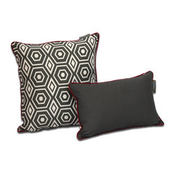 ez living home - Honeycomb Dec Pillow, Grey - *Aesthetically pleasing geometric pattern, EZ to decorate with, suitable for any style.