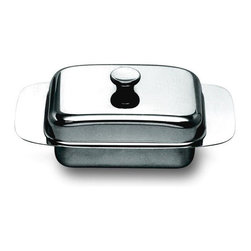 Alessi - Alessi Butter Dish - This distinguished container gives you a tasteful way to serve a tasty condiment … butter. It makes the delicious spread look sophisticated at the table, as it also features a lid to keep it covered in between frequent applications.