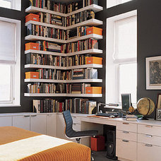 Eclectic Home Office Orange ,White & Grey Home Office