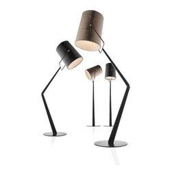 "Foscarini - Diesel Fork Floor Lamp - Learn more about Fork Adjustable Floor Task Lamp below: FEATURES | SPECIFICATIONS FEATURES:  -One light floor task lamp. -Fork collection. -Constructed of fabric and anodized metal. -Causal style. -The light inside reveals a patchwork structure and the texture of the canvas. -The lampshade is extremely flexible and can be oriented 360�. Back to top SPECIFICATIONS: -Accommodates (1) 150W RSC type T3 halogen bulb. -Overall dimensions: 73.03"" H x 24.34"" W x 24.34"" D. Specifications Back to top"