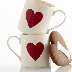 Heart Mug - Red hearts are sure to brighten up your day.