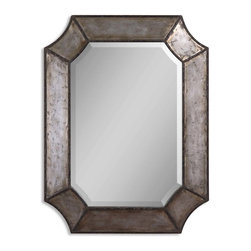 "Uttermost - Elliot Distressed Aluminum Mirror - There is distressed and there is ""distressed."" This mirror does not show any signs of wrinkles, lines or fading. It just shows that aging is a good thing — a beautiful thing. And we all want that."