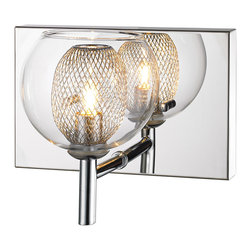 Z-Lite Agai Single-light Chrome Wall Sconce with Clear Glass Shade -