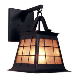 Steel Partners Inc - Hanging Sconce - TOPRIDGE - Every piece we create is unique — handcrafted at our factory in Chehalis, Washington, USA. Due to this, lead times are 2 to 4 weeks.