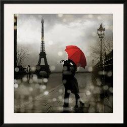Artcom - Paris Romance by Kate Carrigan Artwork - Paris Romance by Kate Carrigan is a Framed Art Print set with a SOHO Thin wood frame and a Polar White mat.