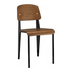 Modway Imports - Modway EEI-214-WAL-BLK Cabin Dining Side Chair In Walnut Black - Modway EEI-214-WAL-BLK Cabin Dining Side Chair In Walnut Black