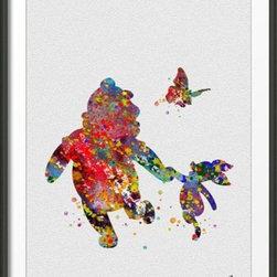 KidsPlayHome - Disney Wall Art Winnie the Pooh and Piglet - Playroom Art Print - Winnie the Pooh and Piglet