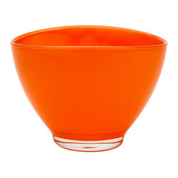 Kansas Oval Bowl, Orange - The Kansas oval bowl a great go-to bowl for salads, dips and desserts. it comes a range of colors to match your tablescape.