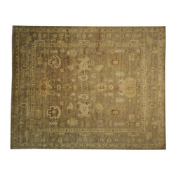 Oversize Taupe Washed Out Natural Dyes 12'x15' Oushak Hand Knotted Rug SH16857 - Hand Knotted Oushak & Peshawar Rugs are highly demanded by interior designers.  They are known for their soft & subtle appearance.  They are composed of 100% hand spun wool as well as natural & vegetable dyes. The whole color concept of these rugs is earth tones.