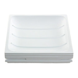 Gedy - White Free Standing Soap Dish - Complete your decorator personal bath with this decorative soap dish & holder from Gedy.