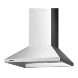 "Viking 3 Series 36"" Chimney Wall Hood, Stainless Steel 