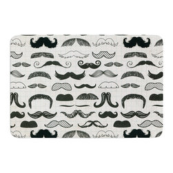 "KESS InHouse - Heidi Jennings ""Stached"" Gray Black Memory Foam Bath Mat (24"" x 36"") - These super absorbent bath mats will add comfort and style to your bathroom. These memory foam mats will feel like you are in a spa every time you step out of the shower. Available in two sizes, 17"" x 24"" and 24"" x 36"", with a .5"" thickness and non skid backing, these will fit every style of bathroom. Add comfort like never before in front of your vanity, sink, bathtub, shower or even laundry room. Machine wash cold, gentle cycle, tumble dry low or lay flat to dry. Printed on single side."
